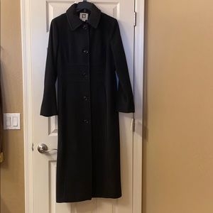 Ann Klein Wool Trench Coat
